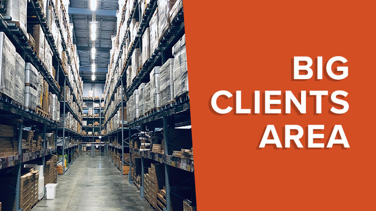 Discover our Big Clients Area
