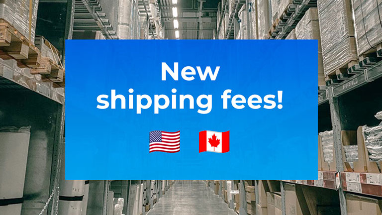 New shipping rates
